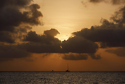 August 19, 2017 - Formentera, Islas Baleares, Spain - Sunset from the port of La Savina, on the island of Formentera, Spain, on Saturday, August 19, 2017. (Credit Image: © Manuel Balles via ZUMA Wire)