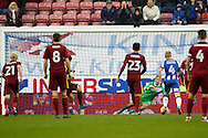 Ipswich's Brett Pitman (11) scores from the penalty spot to make it 0-1 during the EFL Sky Bet Championship match between Wigan Athletic and Ipswich Town at the DW Stadium, Wigan, England on 17 December 2016. Photo by Craig Galloway.