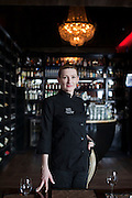 Moscow, Russia, 09/03/2012..Laura Bridge, Executive Chef at the Soho Rooms restaurant and night-club.LICENSED FOR ONE TIME PRINT USE ONLY IN TRANSAERO IMPERIAL MAGAZINE. ALL OTHER RIGHTS RESERVED. NO RESALE, REDISTRIBUTION OR SYNDICATION.