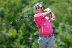 May 12, 2019 - Dallas, TX, U.S. - DALLAS, TX - MAY 12: Bud Cauley hits his tee shot on #4 during the final round of the AT&T Byron Nelson on May 12, 2019 at Trinity Forest Golf Club in Dallas, TX. (Photo by Andrew Dieb/Icon Sportswire) (Credit Image: © Andrew Dieb/Icon SMI via ZUMA Press)