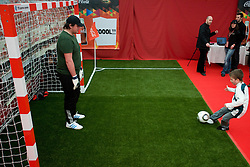 Playing football at VIP reception of FIFA World Cup Trophy Tour by Coca-Cola, on March 29, 2010, in BTC City, Ljubljana, Slovenia.  (Photo by Vid Ponikvar / Sportida)