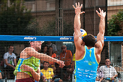 Michael Murauer vs Pablo Bianchi Nasi at Beach Volleyball Challenge Ljubljana 2014, on August 2, 2014 in Kongresni trg, Ljubljana, Slovenia. Photo by Matic Klansek Velej / Sportida.com