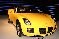 08 February 2007: 2007 Pontiac Solstice GXP. The Chicago Auto Show is a charity event of the Chicago Automobile Trade Association (CATA) and is held annually at McCormick Place in Chicago Illinois.