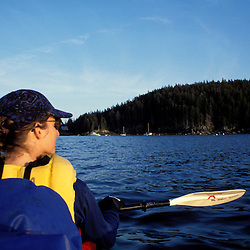 Acadia N.P., ME. Sea Kayaking. Seal Cove. Mt. Desert Island.