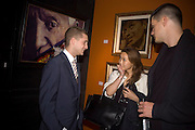 TY WOOD AND  YUKI WILPON , Ideas And Idols - private view of work by Paul Karslake.<br />Scream, 34 Bruton Street, London, W1, 6.30-8.30pm<br />21 February 2008.  *** Local Caption *** -DO NOT ARCHIVE-© Copyright Photograph by Dafydd Jones. 248 Clapham Rd. London SW9 0PZ. Tel 0207 820 0771. www.dafjones.com.
