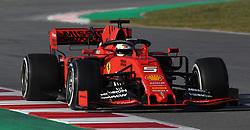 Ferrari's Sebastian Vettel during day one of pre-season testing at the Circuit de Barcelona-Catalunya.