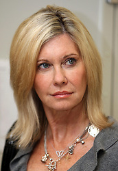 Embargoed to 1600 Wednesday January 14. Olivia Newton-John during a visit to the Oncology department at Addembrooke's Hospital in Cambridge, Cambridgeshire.
