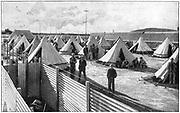 Boer prisoners in camp at Bloemfontein. 2nd Boer War 1899-1902.