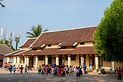 image of an elementary school on Sakkhaline Road,  Luang Prabang, Laos.