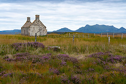 Moine house in Sutherland, Scotland, UK