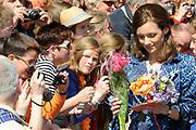 Koninginnedag 2012 in de Utrechtse gemeente Veenendaal. / Queensday 2012 in the city of Veenendaal.<br /> <br /> Op de foto: Prinses Aimée