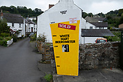 The White Heart beerometer showing success in crowd funding to save the local pub and turn it into a community run public house on 16th August 2021 in St Dogmaels Pembrokeshire, Wales, United Kingdom. With so many pubs in the UK struggling to survive, this community has saved theirs from the sheer good will of the locals.