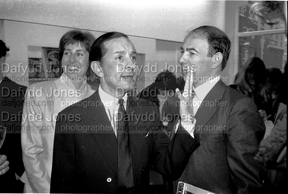 FRED HUGHES; ANTONY D'OFFAY,  Party at the V and A after the opening of Andy Warhol drawings private view, Anthony D'Offay Gallery. 9 June 1988,<br /> SUPPLIED FOR ONE-TIME USE ONLY> DO NOT ARCHIVE. © Copyright Photograph by Dafydd Jones 248 Clapham Rd.  London SW90PZ Tel 020 7820 0771 www.dafjones.com