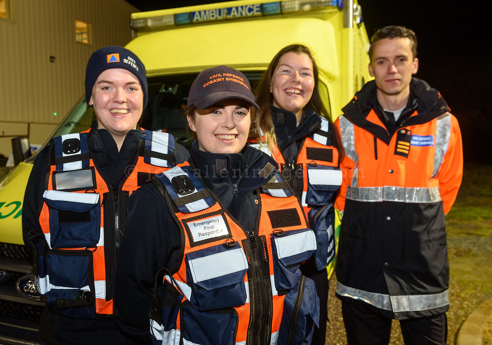 REPRO FREE<br /> Hazel Greene, Laura Murphy, Orla Scanlon and Chris Bristow from the Civil Defence pictured at the inaugural Kinsale Darkness into Light walk in aid of Pieta House and organised by Kinsale Youth Support Services (KYSS).<br /> Picture. John Allen