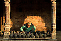 Potters Square is the centre for ceramics in the Kathmandu Valley. These artisans in Bhaktapur have been producing pottery since the 15th century.