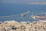 Israel, Haifa, the port of Haifa Israel's largest seaport
