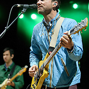 COLUMBIA, MD - April 28th, 2012 -   James Mercer (right) of The Shins performs at the 2012 Sweetlife Food and Music Festival at Merriweather Post Pavilion in Columbia, MD.  The band is currently touring behind their latest album, Port of Morrow. (Photo by Kyle Gustafson/For The Washington Post)