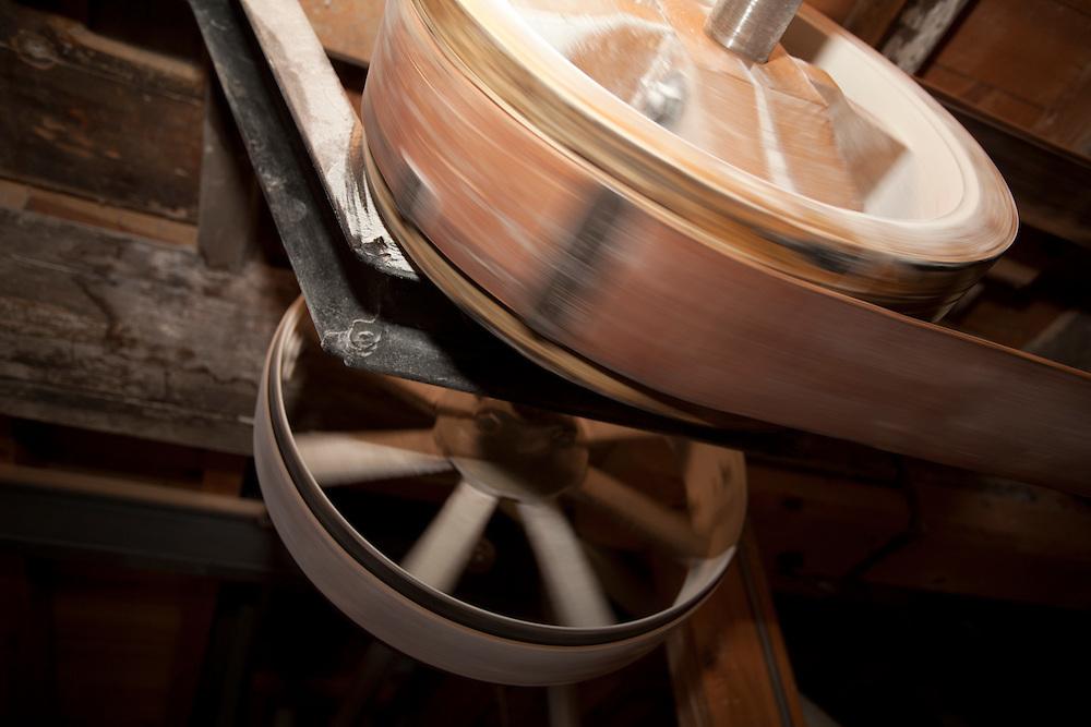 Flour mill machine part,  PRN the Livradois-Forez, St. Dier d'Auvergne, Auvergne, France