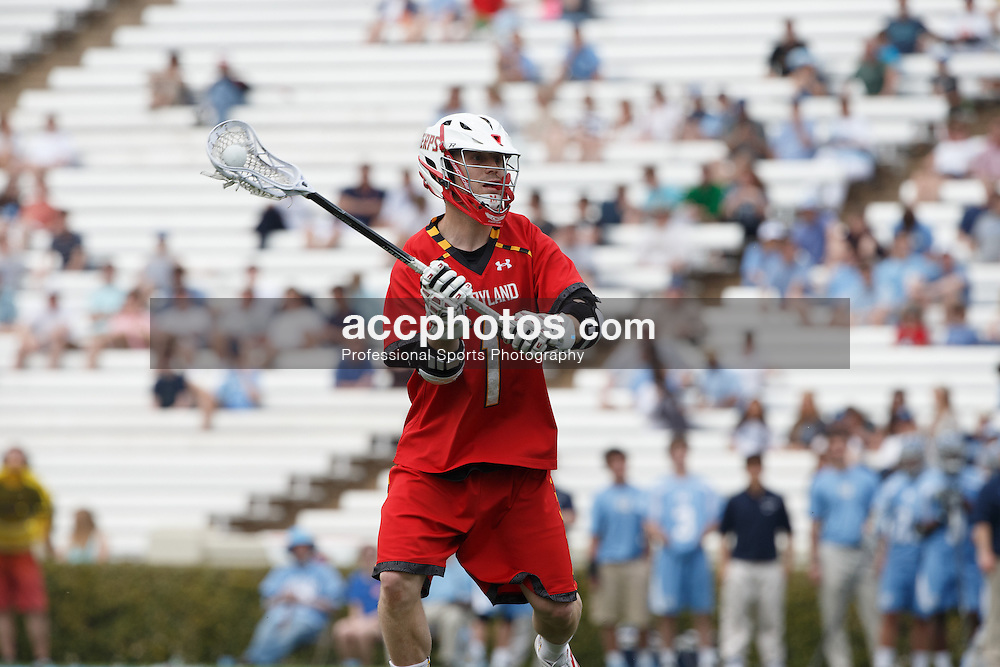 CHAPEL HILL, NC - MARCH 22: Mike Chanenchuk #1 of the Maryland Terrapins during a game against the North Carolina Tar Heels on March 22, 2014 at Kenan Stadium in Chapel Hill, North Carolina. North Carolina won 11-8. (Photo by Peyton Williams/North Carolin