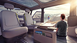 """August 22, 2017 - inconnu - Here's a new all electric version of the iconic Volkswagen Kombi van. Called the ID Buzz, it could be in sale as soon as 2022.The MPV is all-wheel drive with electric motors on front and rear axles.It was unveiled as a concept vehicle in January but has now been given the green light to be built.The concept had like an augmented reality HUD, laser-guided self driving capability, video cameras instead of mirrors, and the ability to remove both the dash as an infotainment tablet and the car audio system for outdoor use at the beach.The full specification of the production vehicle has not yet been revealed.The modified production version will be targeted mainly at the USA, Europe and China.Final specifications are yet to be defined, but won't be fully autonomous. Volkswagen says it will have level 3 self-driving capabilities upon launch, but has hinted that full autonomy should be possible by 2025.The I.D. Buzz will come in two versions – a Kombi-style microbus and a commercial city delivery van to take advantage of the large cargo capacity created by having batteries and drive-train stored flat under the floor.No information is available yet on power, battery capacity, price, or it the removable dash and stereo as shown in the concept , will be part of the production modelVolkswagen CEO Dr Herbert Diess revealed: ''After the presentations at global motor we received a large number of letters and emails from customers who said, 'please build this car.'' Now we're bringing it back by reinventing it as an electric vehicle.'' He said the vehicle has a long wheelbase with short overhangs, allowing for a massively spacious interior and great proportions. He added: """"The vehicle looks like a compact commercial van on the outside, even though it offers the generous interior space of a large SUV .""""In the concept car, the driver's seat can be turned around and the driver can face the passengers in the back. Laser scanners, ul"""