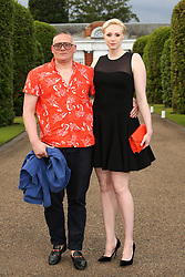 June 23, 2015 - London, England - Giles Deacon and Gwendoline Christie at the Vogue and Ralph Lauren Wimbledon Party held at Kensington Place Orangery on June 22 2015 in London  (Credit Image: © Famous/Ace Pictures/ZUMA Wire)