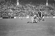 Player falls to the ground during the All Ireland Senior Hurling Final in Croke Park - Kilkenny v Galway, Kilkenny 2-12, Galway 1-8, 2nd September 1979.