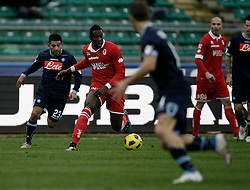 Bari (BA), 23-01-2011 ITALY - Italian Soccer Championship Day 21 - Bari VS Napoli..Pictured: Okaka (B)..Photo by Giovanni Marino/OTNPhotos . Obligatory Credit