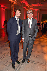 Left to right, Tristram Hunt and Michael Ward at the Mary Quant VIP Preview at The Victoria & Albert Museum, London, England. 03 April 2019. <br /> <br /> ***For fees please contact us prior to publication***