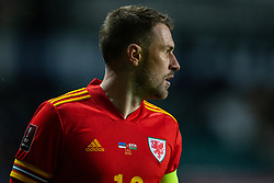 TALLINN, ESTONIA - Monday, October 11, 2021: Wales' captain Aaron Ramsey during the FIFA World Cup Qatar 2022 Qualifying Group E match between Estonia and Wales at the A. Le Coq Arena. Wales won 1-0. (Pic by David Rawcliffe/Propaganda)