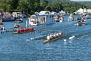 """Henley on Thames, United Kingdom, 8th July 2018, Sunday, View,  """"Fifth day"""", of the annual,  """"Henley Royal Regatta"""", Henley Reach, River Thames, Thames Valley, England, © Peter SPURRIER,"""