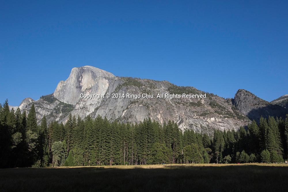 The Half Dome is seen from Yosemite Village at Yosemite National Park, California. (Photo by Ringo Chiu/PHOTOFORMULA.com)