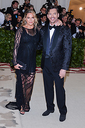 Jill Goodacre and Harry Connick Jr. walking the red carpet at The Metropolitan Museum of Art Costume Institute Benefit celebrating the opening of Heavenly Bodies : Fashion and the Catholic Imagination held at The Metropolitan Museum of Art  in New York, NY, on May 7, 2018. (Photo by Anthony Behar/Sipa USA)