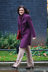 © Licensed to London News Pictures. 02/12/2014. LONDON, UK. Northern Ireland Secretary, Theresa Villiers attending to a cabinet meeting on Downing Street on Tuesday, 2 December 2014. Photo credit: Tolga Akmen/LNP