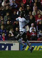 Photo: Andrew Unwin.<br /> Middlesbrough v Fulham. The Barclays Premiership.<br /> 20/11/2005.<br /> Fulham's Papa Bouba Diop celebrates scoring his team's second goal.