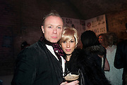 GARY KEMP; LAUREN KEMP, Stephen Webster: 7 Deadly Sins And No Regrets - launch party, Old Vic Tunnels (formerly Leake Street Tunnel), Waterloo, London SE1, 8 December 2010. DO NOT ARCHIVE-© Copyright Photograph by Dafydd Jones. 248 Clapham Rd. London SW9 0PZ. Tel 0207 820 0771. www.dafjones.com.