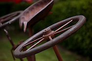 Rusty farm tools near Queenstown New Zealand, Photograph by Dennis Brack