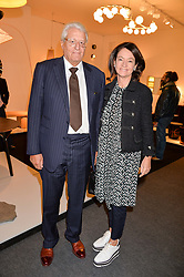 Gert Rudolph Flick and his wife Corinne at the 2017 PAD Collector's Preview, Berkeley Square, London, England. 02 October 2017.