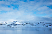Spectacular Brennisteinsfjoll volcanic mountains and Kleifarvatn lake on Reykjanes peninsula, Reykjavik, Iceland