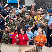 NLD/Amsterdam/20190803 - Gaypride 2019, boot van het minsterie van defensie