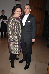 JONATHAN NEWHOUSE and SUZY MENKES at the opening party for 'Face of Fashion' an exhibition of photographs by five of the World's leading fashion photographers held at the National Portrait Gallery, St.Martin's Lane, London on 12th February 2007.<br /><br />NON EXCLUSIVE - WORLD RIGHTS