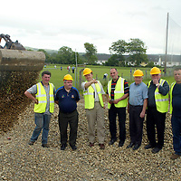 Sixmilebridge GAA Comittee Members Pat Keane-Chairman, Tom Sheehan, Declan Murphy, Syl O Connor, Michael Roughan, Pat O Shea and Paddy Meehan pictured on the site of O Garney Park (Sixmilebridge's GAA field) on Thursday where they plan to develop the field and build such facilities as a gymnasium and indoor ball alley plus extending he capacity of the Tom Morey Stand. Pic. Brian Arthur/ Press 22.