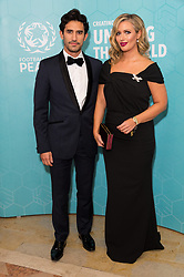 © Licensed to London News Pictures. 17/11/2017.  London, UK. KIRK NEWMAN and HAYLEY MCQUEEN attend the Football For Peace Inaugural Ball held at Guildhall. Photo credit: Ray Tang/LNP