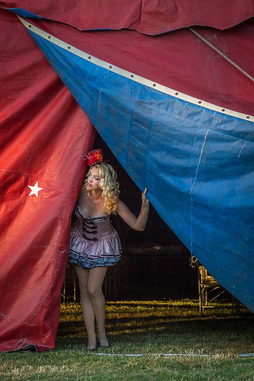 Nicole Laumb anticipates opening night for the Flynn Creek Circus in Calistoga.