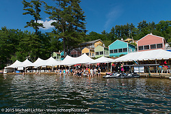 The Naswa Resort for the Peter Makris Memorial Ride during Laconia Motorcycle Week. Laconia, NH, USA. June 13, 2015.  Photography ©2015 Michael Lichter.