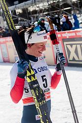 March 16, 2018 - Falun, SVERIGE - 180316 Marit BjÂ¿rgen, Norge, efter finalen i sprint under Svenska Skidspelen den 16 mars 2018 i Falun  (Credit Image: © Simon HastegRd/Bildbyran via ZUMA Press)