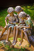 Statue of children playing, Jacksonville, Oregon USA