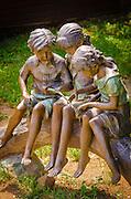 Statue of children playing, Jacksonville, Oregon USA