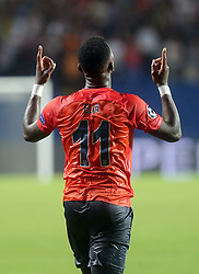 August 16, 2017 - Medipol Basaksehir's Eljero Elia celebrate his goal during Medipol Basaksehir - Sevilla UEFA Champions League Play - Off 1st round game at Istanbul Fatih Terim Stadium, 16th August, 2017. (Credit Image: © Tolga Adanali/Depo Photos via ZUMA Wire)