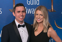 February 17, 2019 - Beverly Hills, California, U.S - Christopher Encell and guest in the red carpet of the 2019 Writers Guild Awards at the Beverly Hilton Hotel on Sunday February 17, 2019 in Beverly Hills, California. ARIANA RUIZ/PI (Credit Image: © Prensa Internacional via ZUMA Wire)