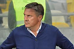 September 10, 2017 - Kiev, Kiev, Ukraine - Dynamo Kyiv's head coach Aleksandr Khatskevich during the match Ukrainian Premier League at the Olympiyskiy Stadium. (Credit Image: © Alexandr Gusev/Pacific Press via ZUMA Wire)